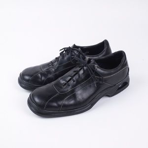 Cole Haan Nike Air Black Leather Oxfords Size 11